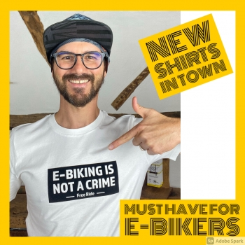 "T-Shirt  ""E-Biking is not a crime"""